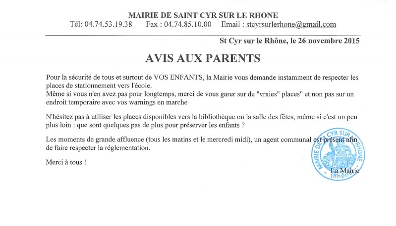 Vigipirate - Avis aux parents -2