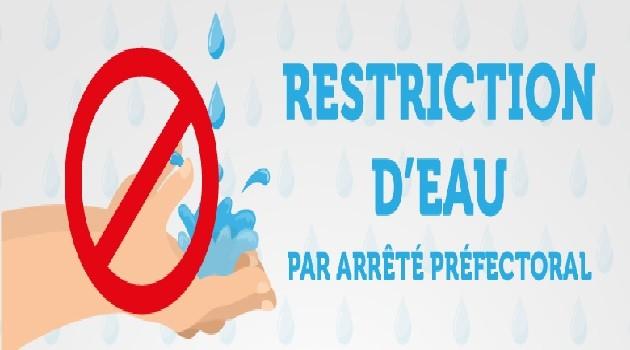 Restrictions d'eau – Arrêté préfectoral
