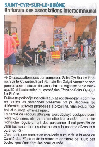 Article de presse forum associations